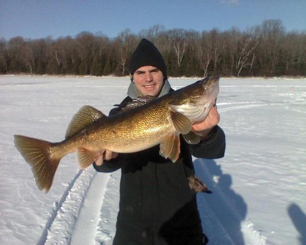 Lake and fishing information for lac vieux desert for Lake gogebic fishing report