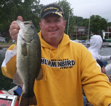 Guide Dave Duwe with a Delavan Lake Largemouth