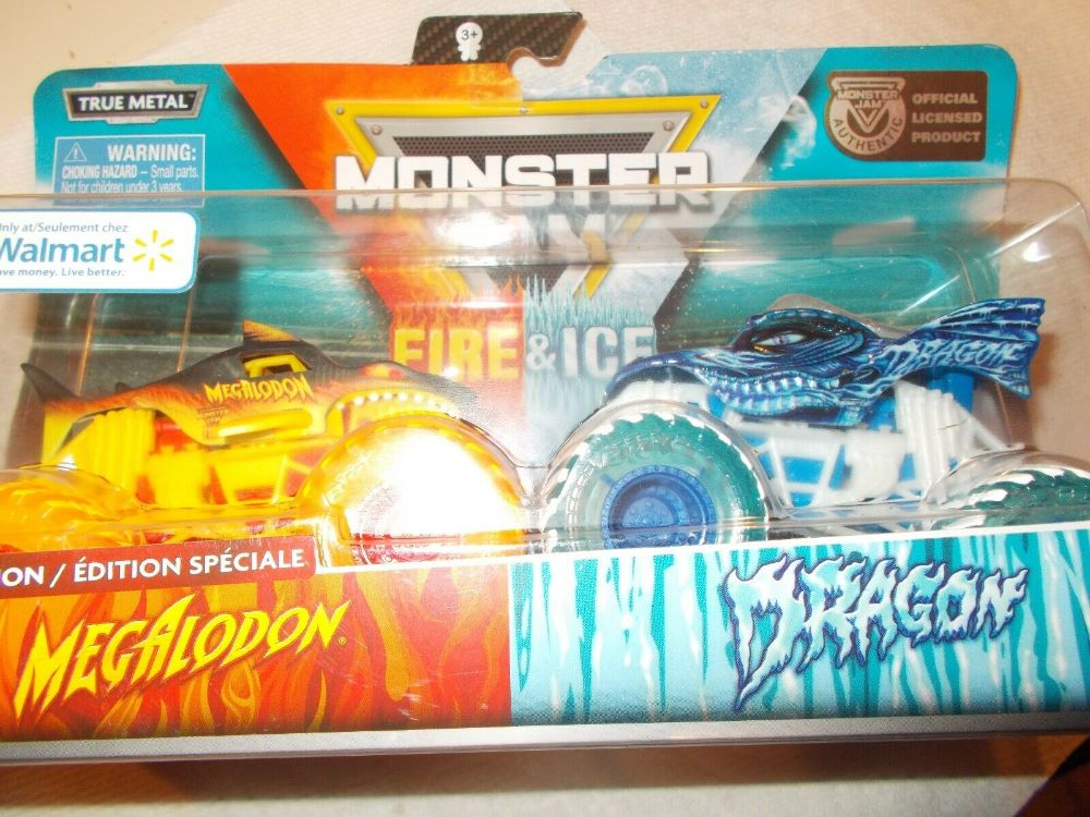 Monster Jam Spinmaster set of trucks