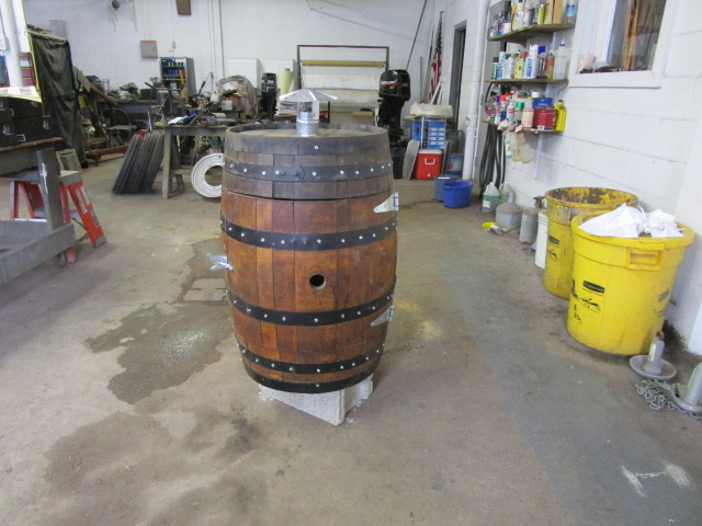 Whiskey Barrel Smoker