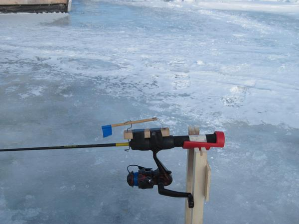 Jig pole tip up for Best ice fishing tip ups