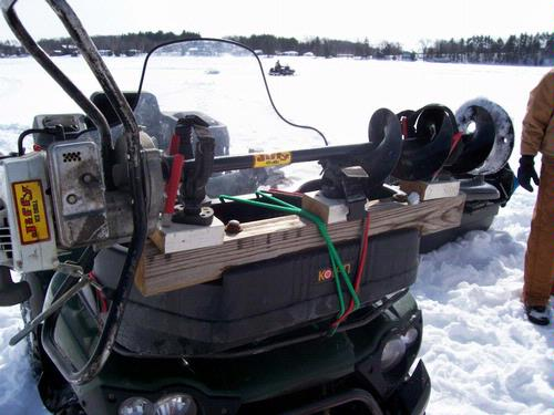 Making An Auger Rack For You Atv