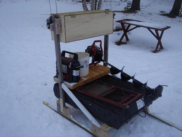 Homemade ice fishing stuff for Atv ice fishing accessories