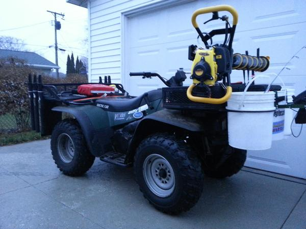 atv ice fishing setup