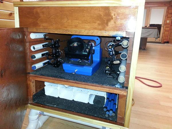 Homemade ice fishing stuff for Ice fishing battery box