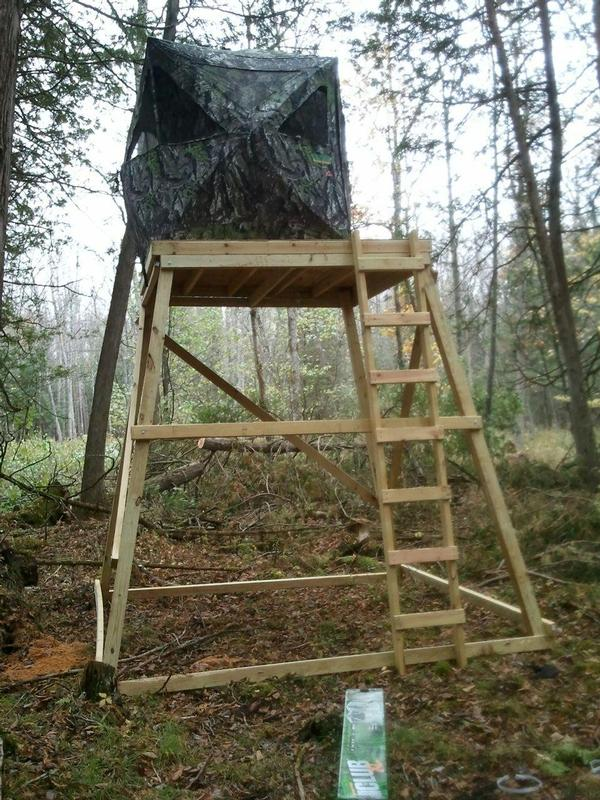 Munhunt deer hunting elevated blinds for How to build a tower stand