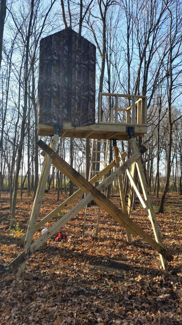 4x4 Deer Stand Leg Brackets Pictures To Pin On Pinterest