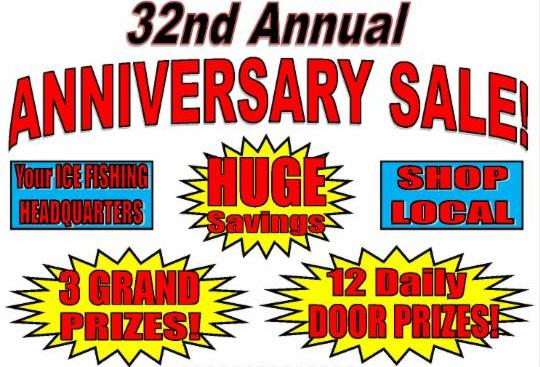 Dick smith 39 s 32nd anniversary sale going on now for Nd game and fish stocking report