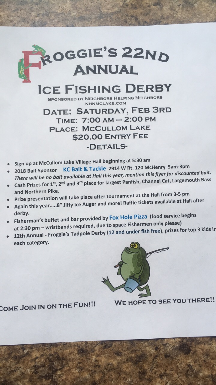 Fox chain channel lake fishing reports and discussions for Illinois ice fishing reports