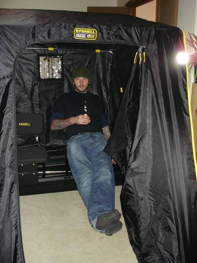 Frabill trekker 2 man ice fishing shelter for Frabill ice fishing suit