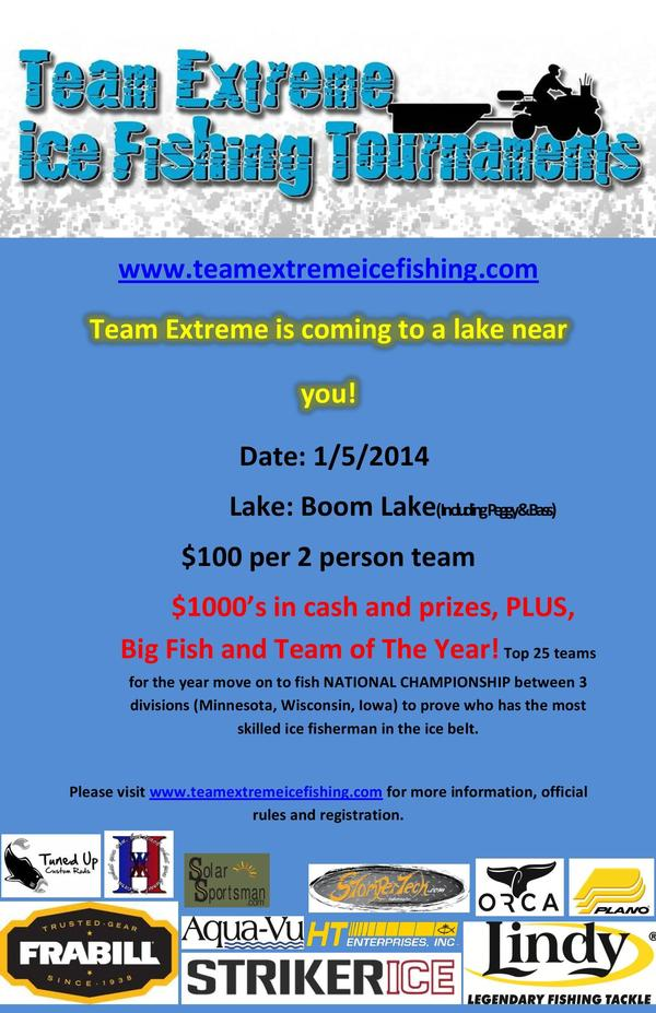 Team Extreme Ice Fishing Tournaments Wisconsin Division