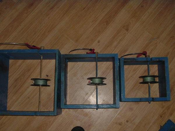 These are home made box tip ups 1x6 boards for sides are the