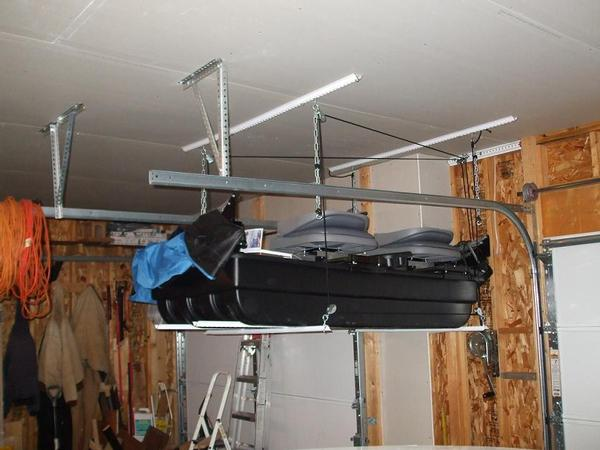 Storing Portable Fish House In Garage : Clam ice shack storage