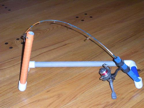 Home made slammer automatic tip up for Homemade ice fishing tip ups