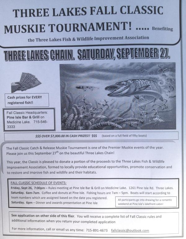 2014 wisconsin musky tournaments for Wisconsin fishing tournaments