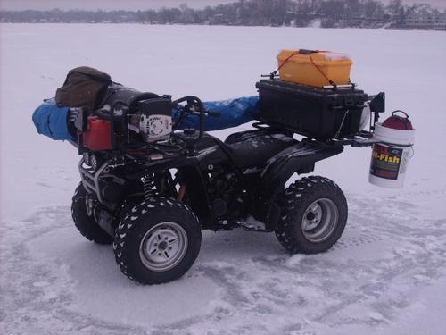Ice fishing setup atv for Ice fishing setup