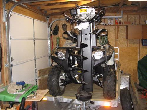 Atv Front Rack Box With Auger Holder