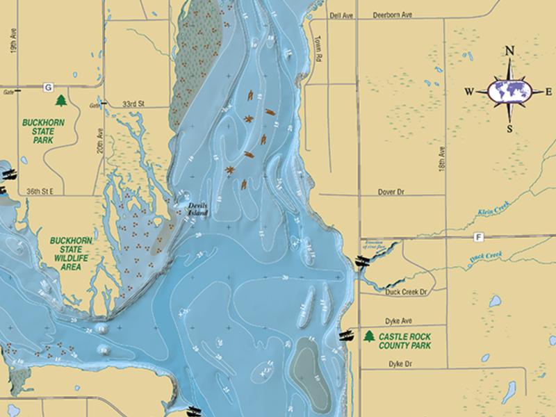 100+ Castle Rock Lake Wisconsin Map – yasminroohi on