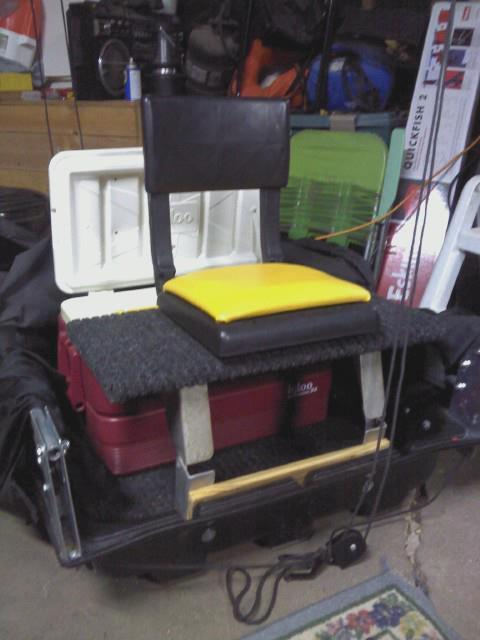 Sled mods for Ice fishing chairs