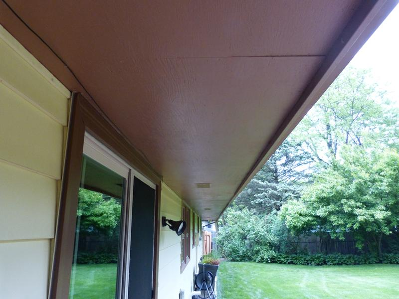 Painting Soffits On House
