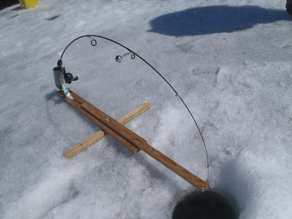 Homemade ice fishing rod holder car interior design for Homemade fishing rod holders