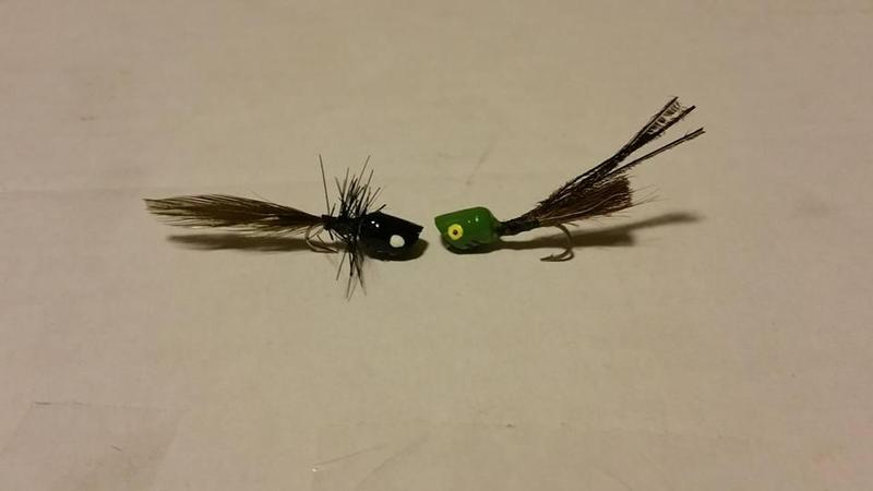 Panfish poppers for Fly fishing poppers