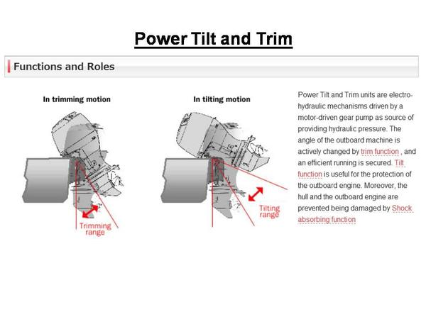 Understanding Tilt And Trim