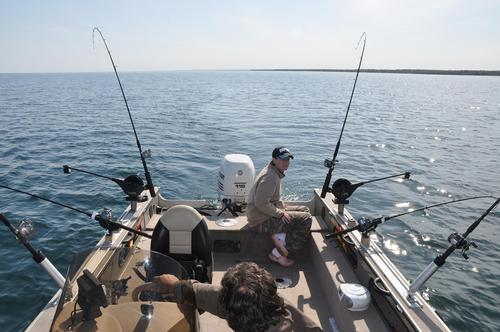 Lake michigan setup for Salmon fishing setup
