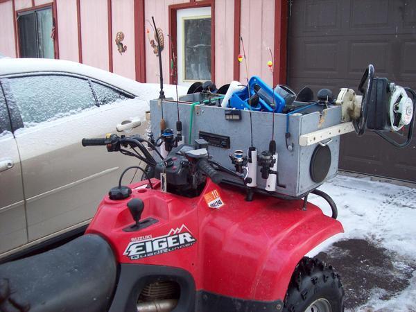 Ice fishing set up auger mounts ect for Ice fishing setup