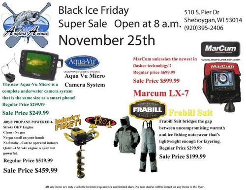 black friday ice fishing sale