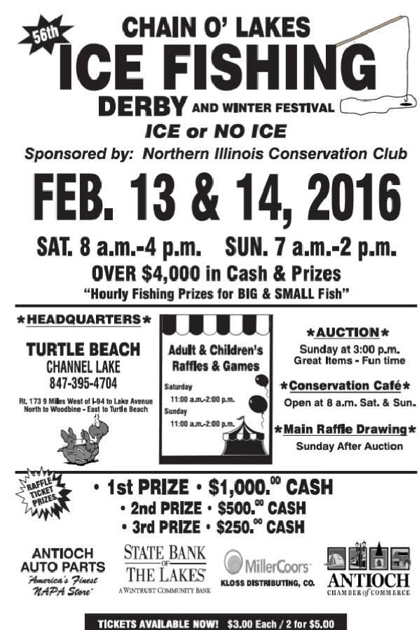 2016 ice fishing derbies fishing reports and discussions for Illinois ice fishing reports