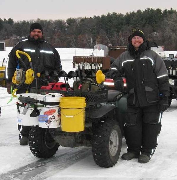 Atv ice fishing setup for Ice fishing setup