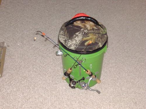 Ultimate ice fishing bucket for Ice fishing bucket