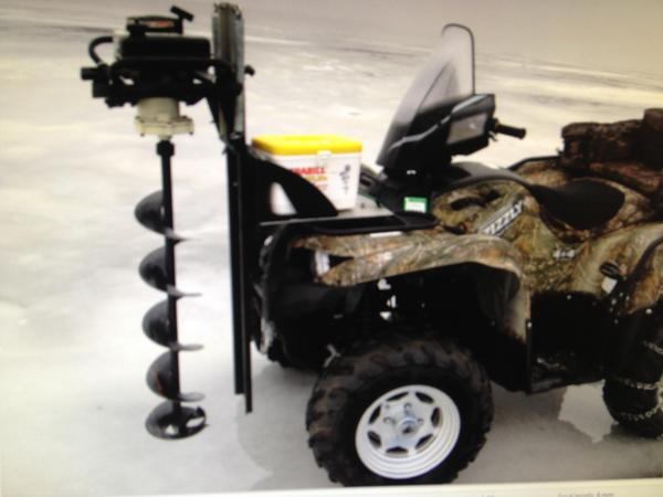 Diy atv ice auger mount diy do it your self for Atv ice fishing accessories