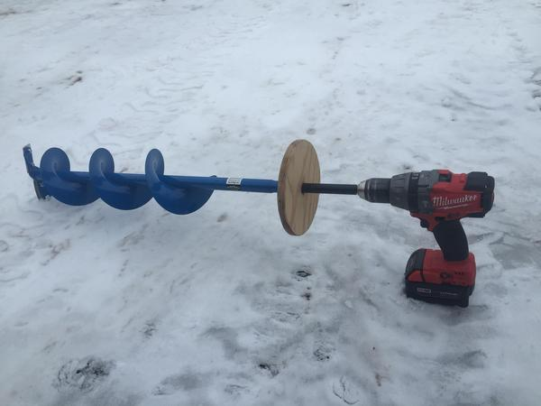 Opinion on cordless drill auger for Ice fishing augers