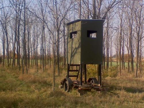 Permanent ground blind plans images frompo for Deer blind images