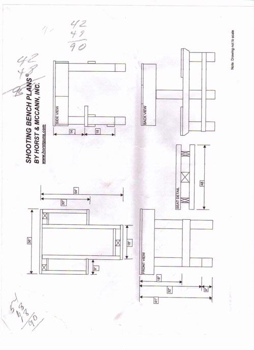 shooting bench plans