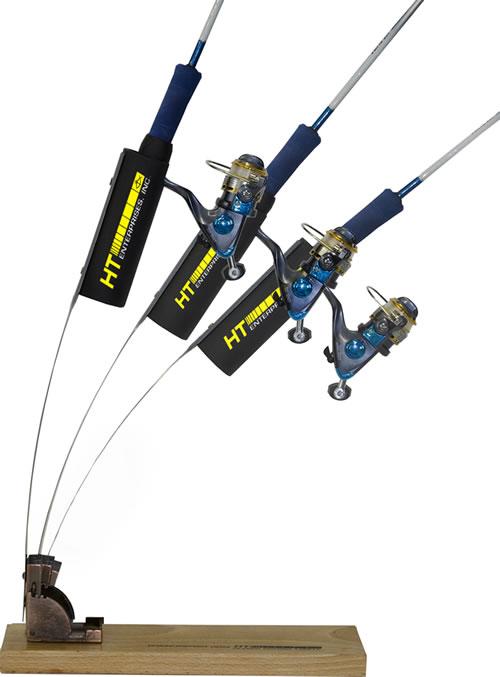 Wind jigger rod holder for Ice fishing rod holder