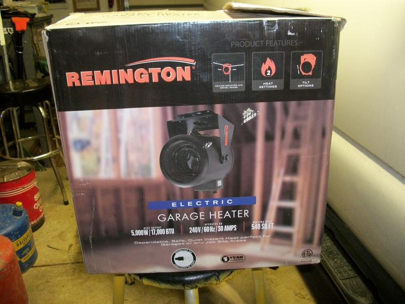 new in box remington electric garage heater