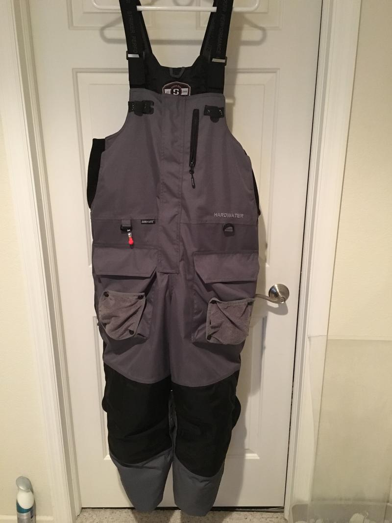 Striker hard water bibs and jacket xl for Ice fishing bibs and jacket