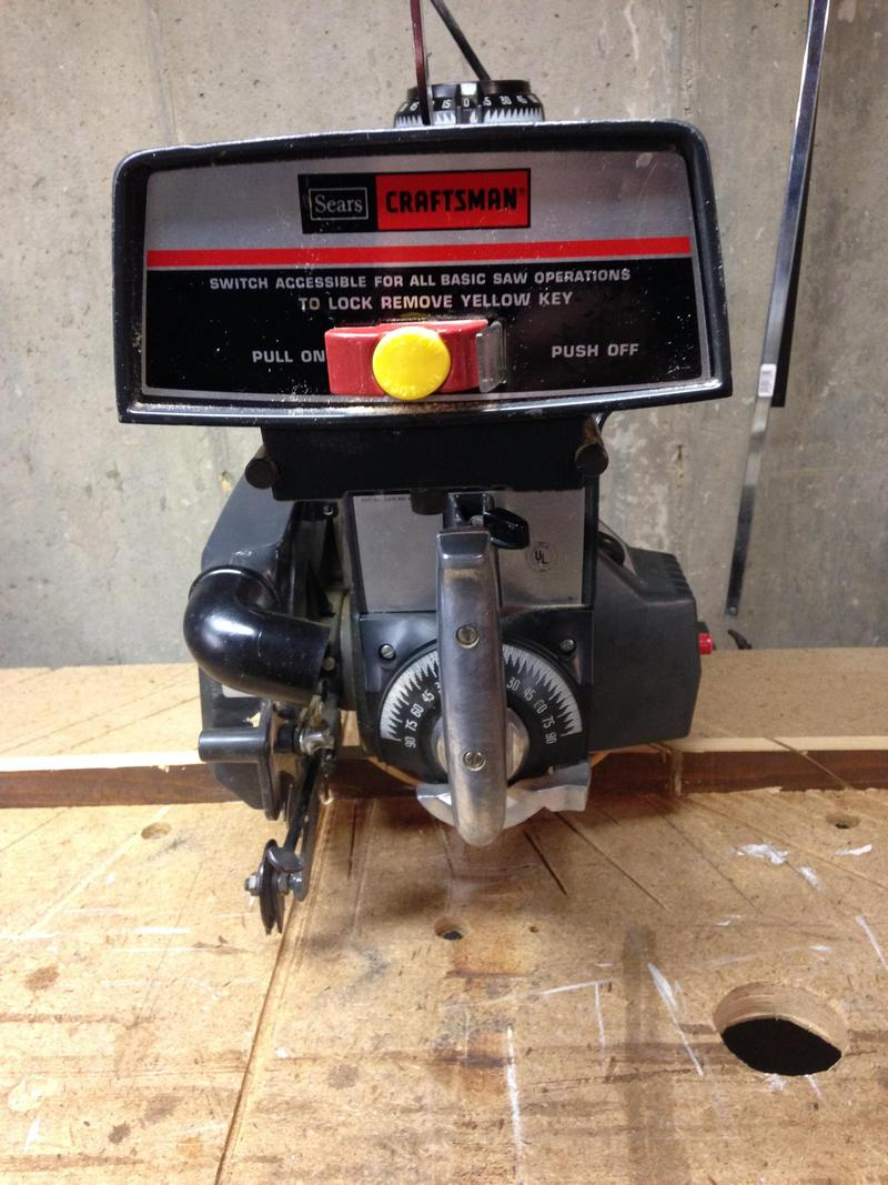 To Get Information about 10 Inch Craftsman Radial Arm Saw Blade Change
